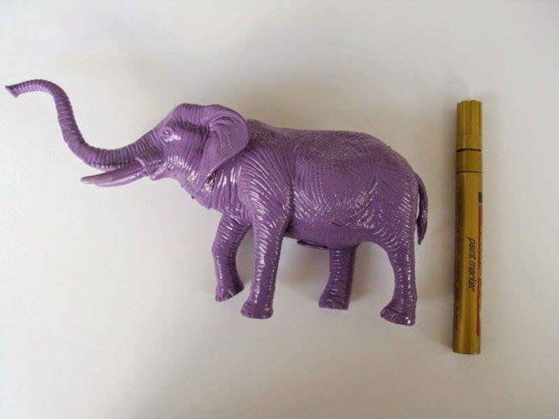 Plastic purple elephant