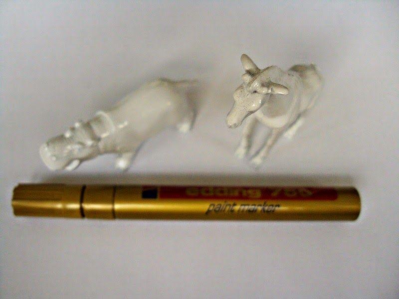 White plastic animals