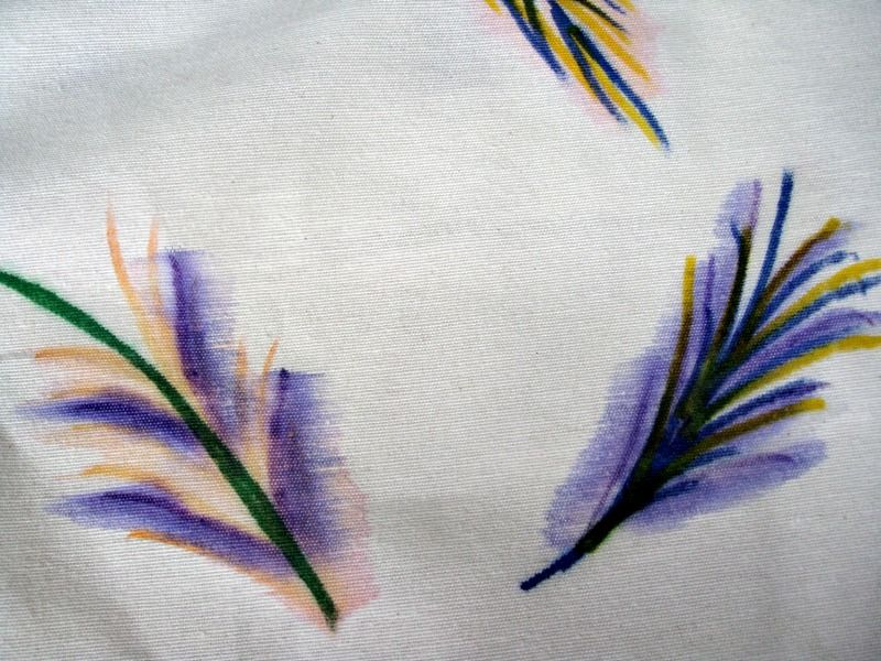 DIY watercolor pillow