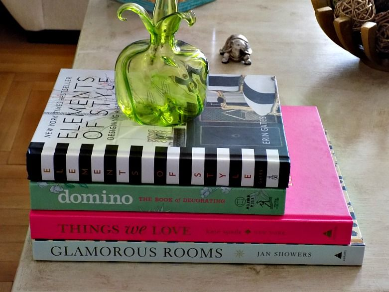 Coffee table decor books