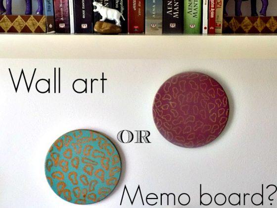 Cork hot pads as memo boards