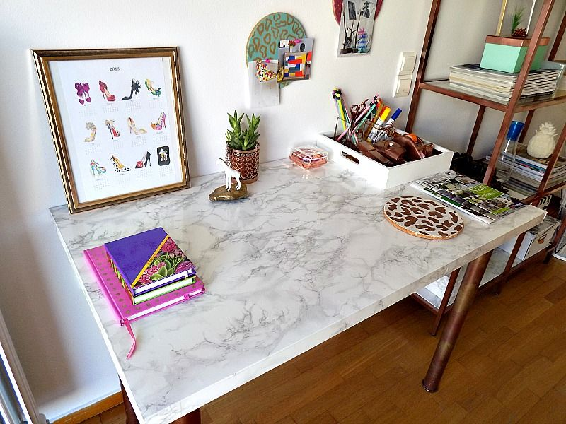 Ikea hack marbled table