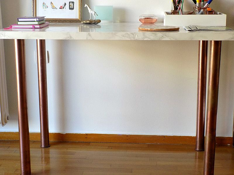 Ikea hack, how a table becomes a desk
