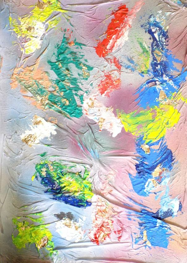 Πίνακας με πολλά χρώματα 3d diy