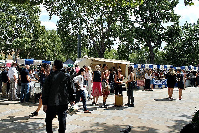 Βόλτα στο Λονδίνο Μέρος 1ο, Fleam market, food market