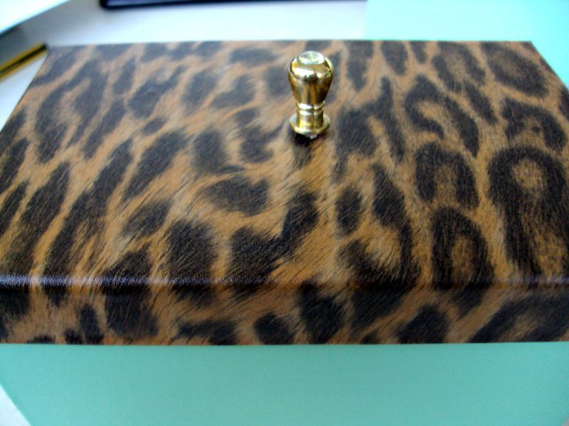 Animal print storage box