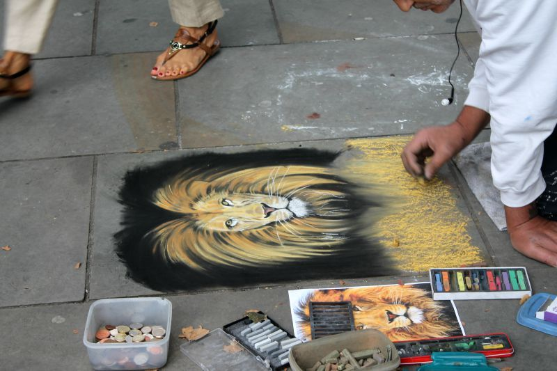 Street painting London city