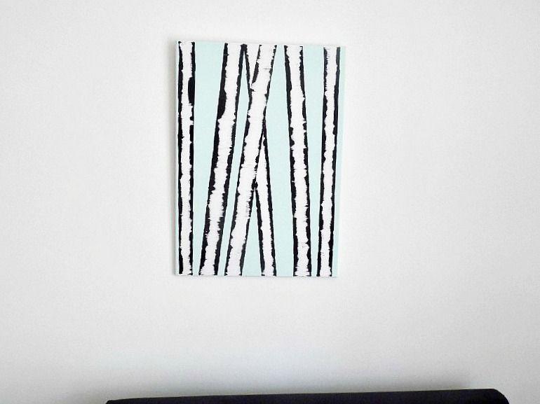 Birch wall art diy