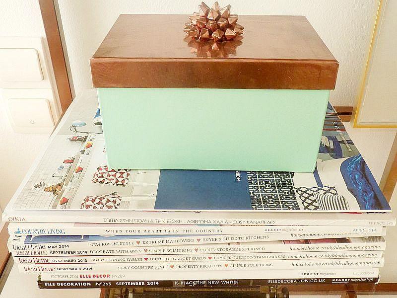Mint copper storage box diy