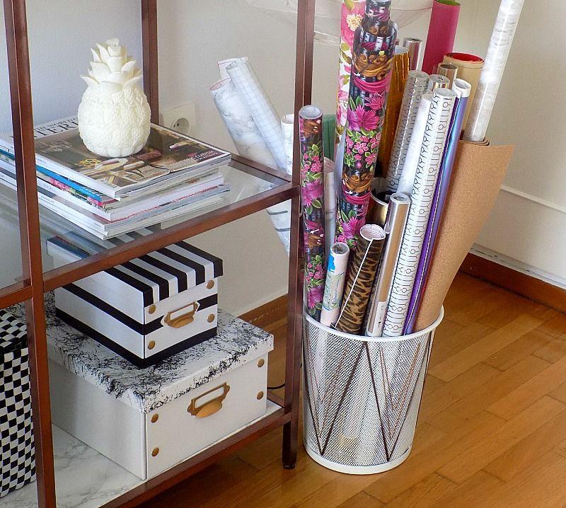 Το γραφείο μου στο σπίτι, Diy wrapping paper basket