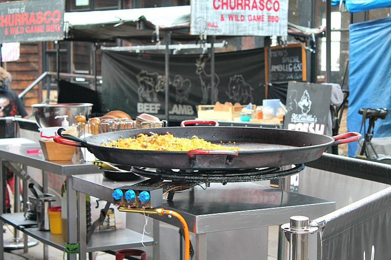 Camden Market, London, food market