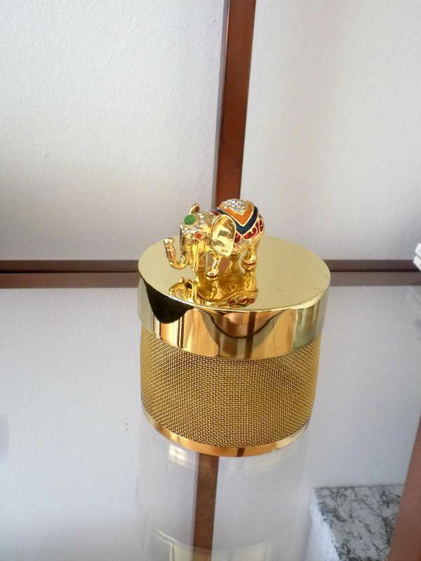Gold metallic elephant