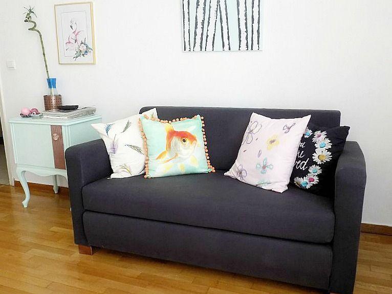 Το γραφείο μου στο σπίτι, ο καναπές, Home office, vintage mint nightstand