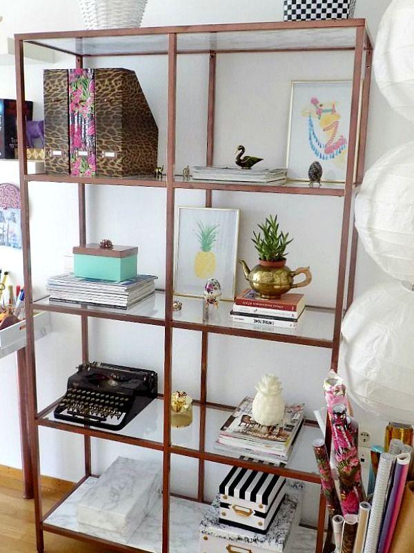 Το γραφείο μου στο σπίτι, Ikea hack vittsjo shelves in copper