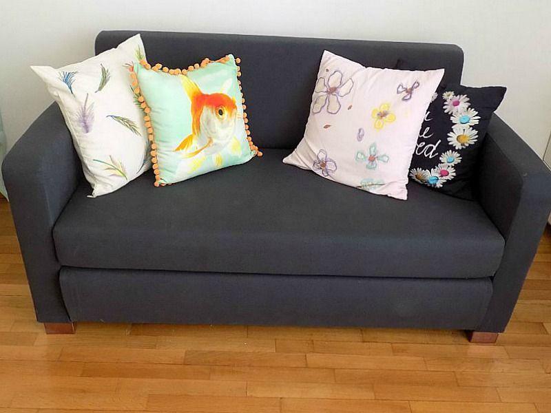 Το γραφείο μου στο σπίτι, ο καναπές, IKEA sofa bed