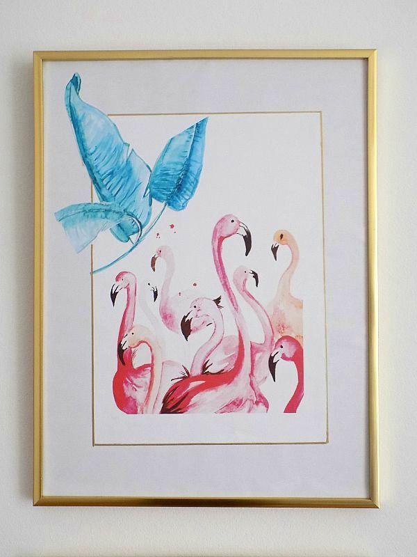 Pink flamingos printable