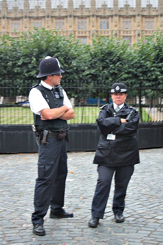 Police officers in the city of London