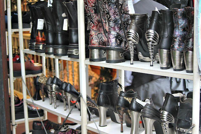 Camden, London, Shoe shop