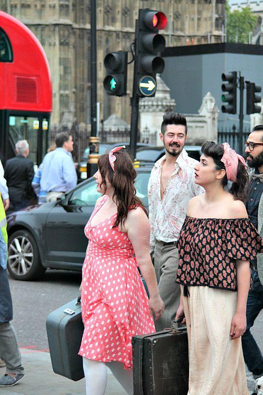 Βόλτα στο Λονδίνο, γύρισμα video clip Westminister Bridge