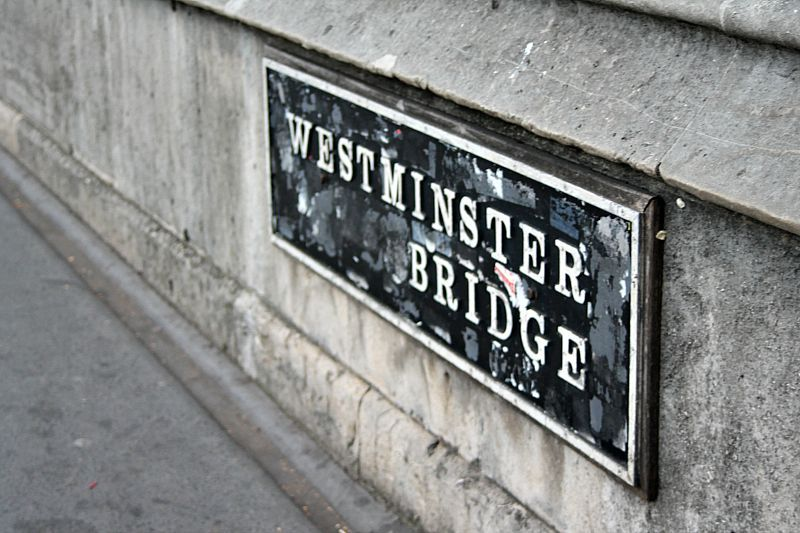 Βόλτα στην πόλη του Λονδίνου Westminister Bridge