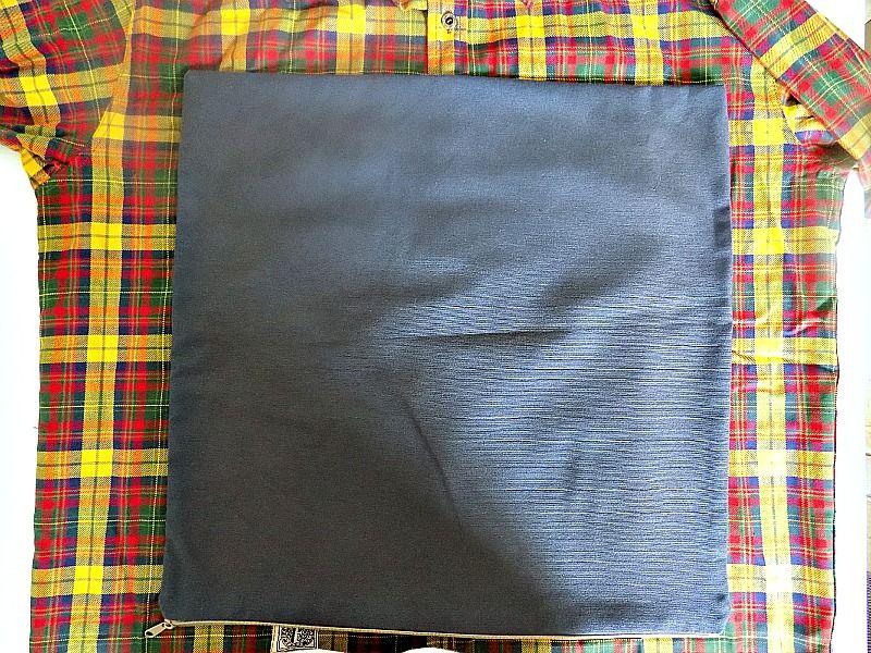 Μαξιλάρια χωρίς ράψιμο από παλιά πουκάμισα, πως να τα φτιάξεις