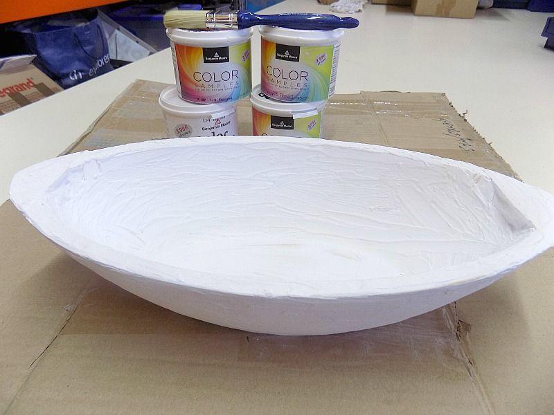 Πως να βάψεις ένα πλαστικό μπολ κουζίνας να μοιάζει σαν ένα ξύλινο μπολ
