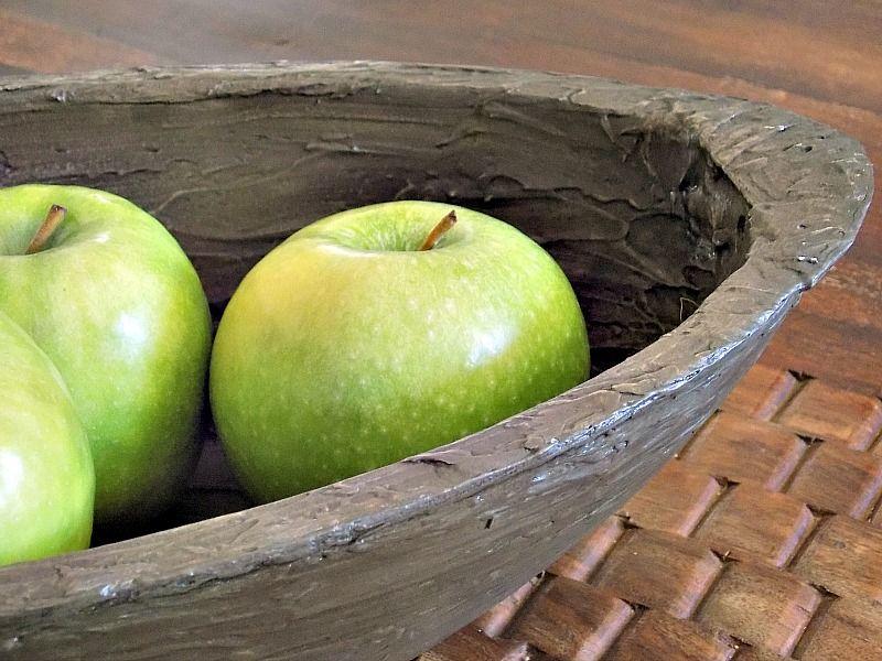 Dough bowl diy, green apples