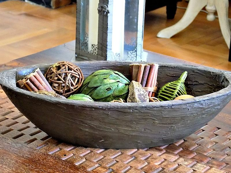 Ένα ξύλινο διακοσμητικό μπολ diy