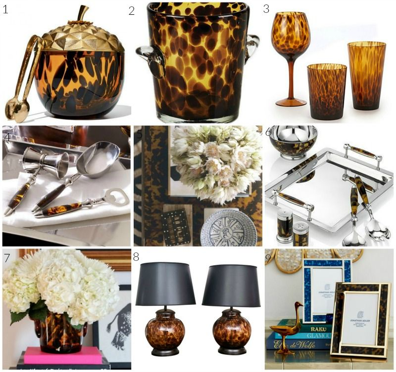 tortoise shell home accessories