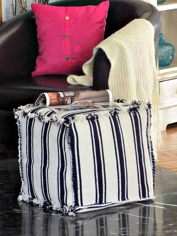 IKEA hack cube pouf diy