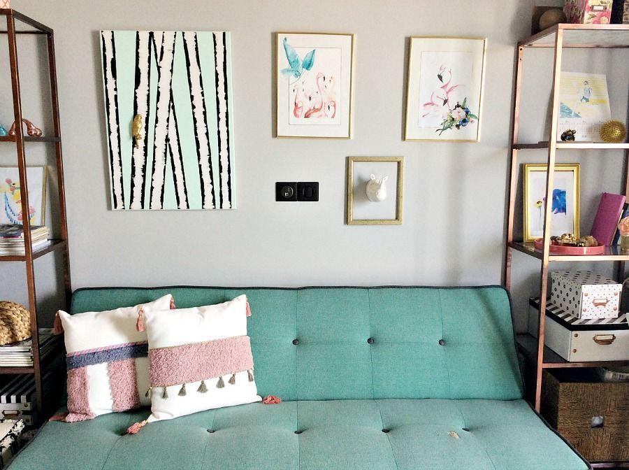Διακόσμηση με ότι έχεις μέσα στο σπίτι, My home office wall gallery