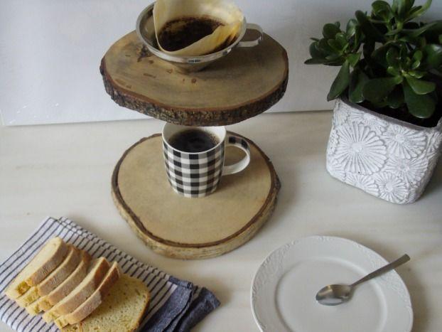 Καφετιέρα γαλλικού καφέ από φέτες ξύλου
