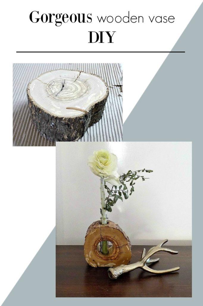 Gorgeous wooden vase diy | Πως να φτιάξεις ένα υπέροχο ανθοδοχείο από φέτα ξύλου