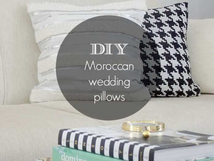 Moroccan wedding pillow covers diy