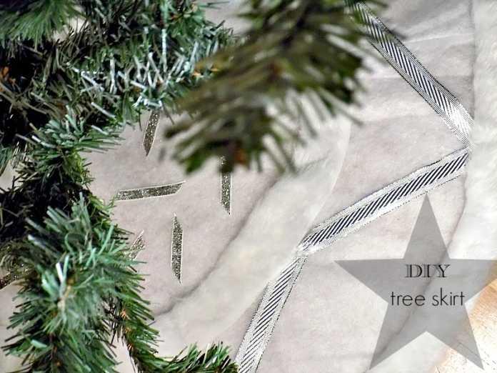 Χιονισμένη ποδιά δέντρου diy