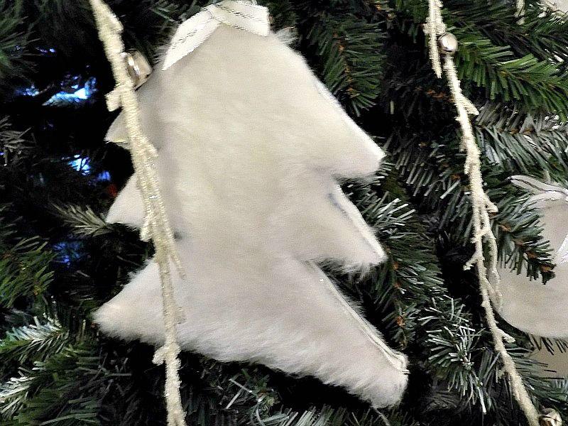 Γούνινα στολίδια, χριστουγεννιάτικο δέντρο