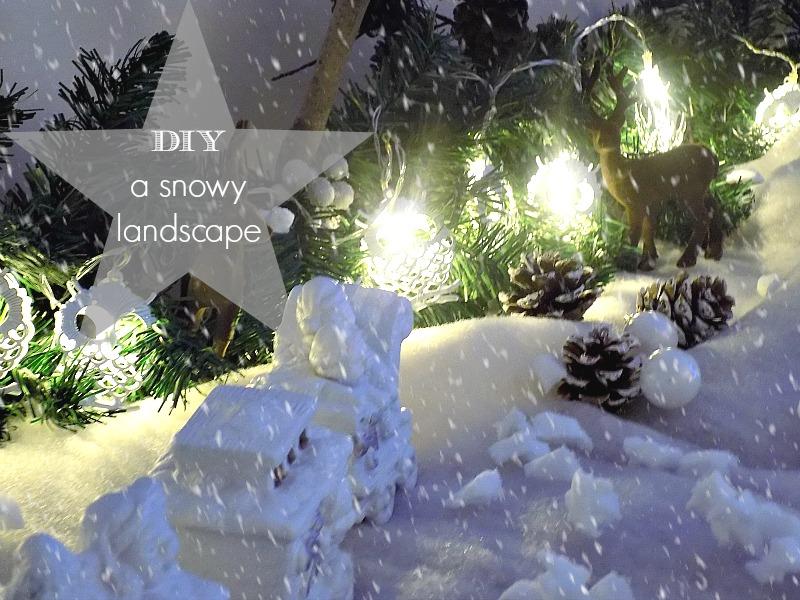 Χιονισμένο χριστουγεννιάτικο τοπίο