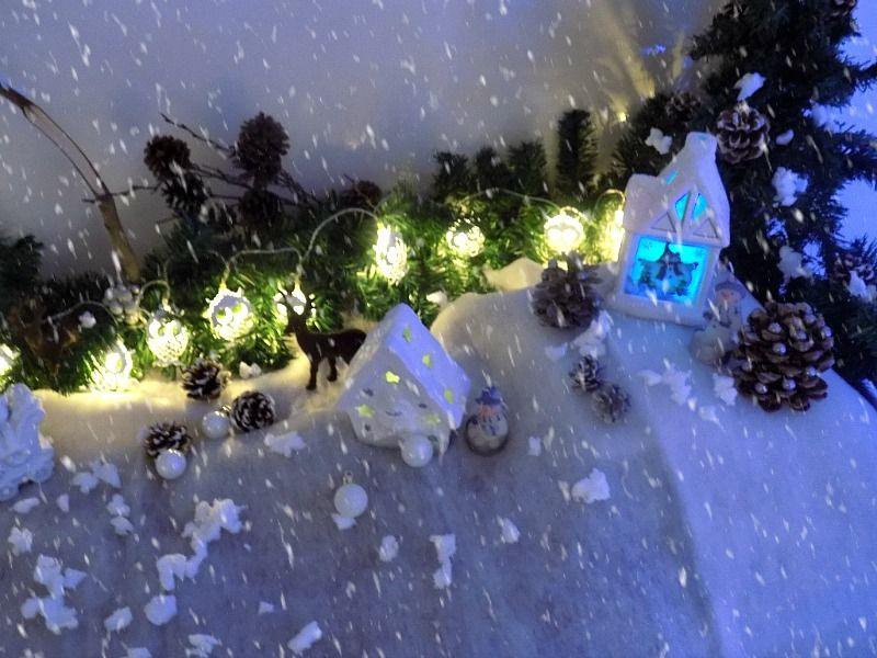 Χιονισμένο χριστουγεννιάτικο τοπίο diy