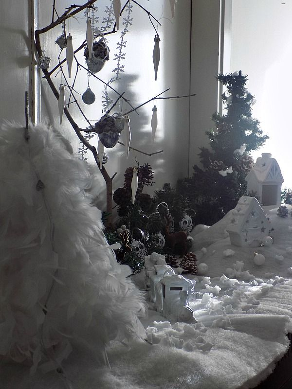 Snowy christmas landscape diy