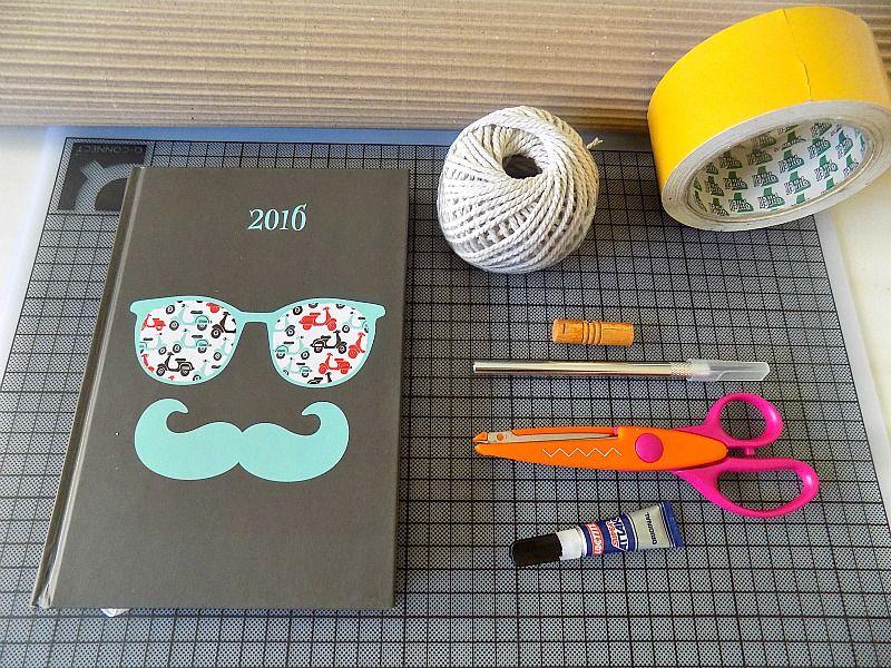 Εύκολο diy εξώφυλλο ημερολογίου, τα υλικά