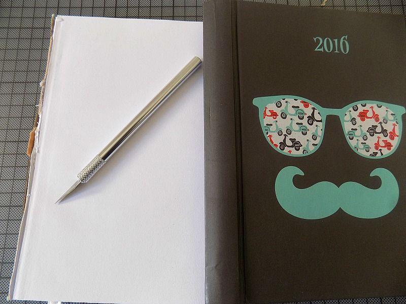 Εύκολο diy εξώφυλλο ημερολογίου, πως να το φτιαξεις