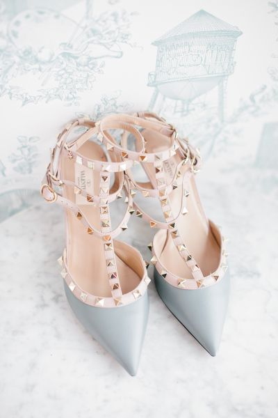 Rose quartz and serenity valentino shoes