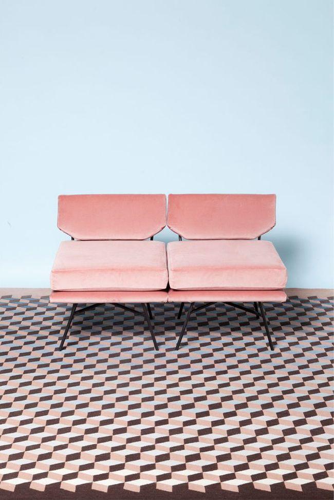Pantone για το 2016, ροζ πολυθρόνες, γαλάζιος τοίχος