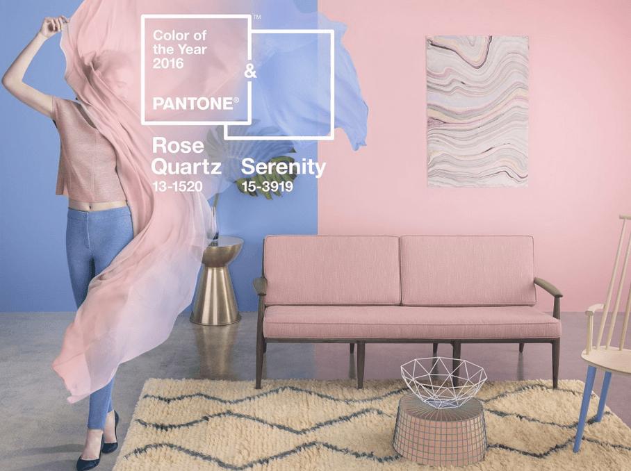 Pantone για το 2016, ροζ και γαλάζιο