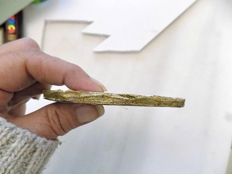 Πως να φτιάξεις faux αχάτες, χρυσός μαρκαδόρος στην φέτα αχάτη