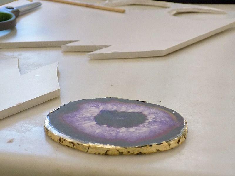 Πως να φτιάξεις faux αχάτες, φύλλο χρυσού στην περιφέρεια του
