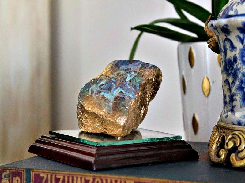 faux agate stones diy