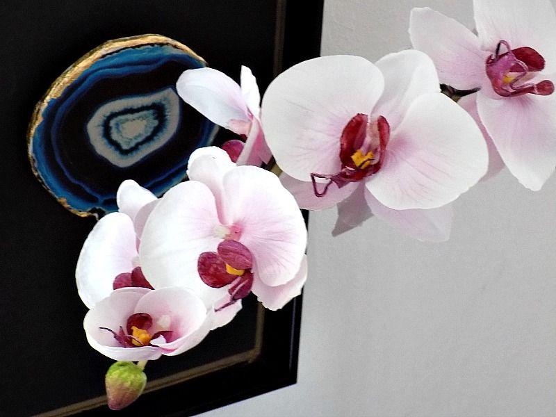 Ψεύτικες ορχιδέες, πως να φαίνονται σαν αληθινές, white and blue porcelain vases
