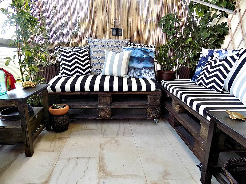 Spray painted pillows