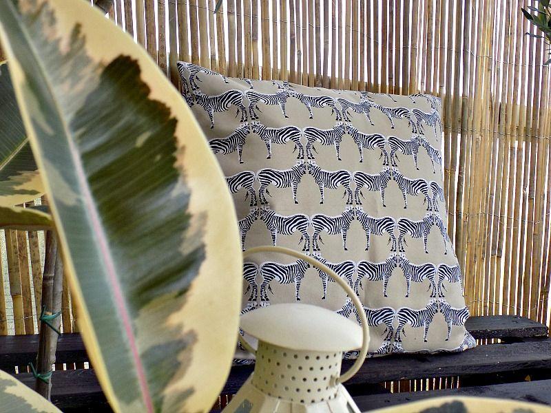 Zebra pillow cover